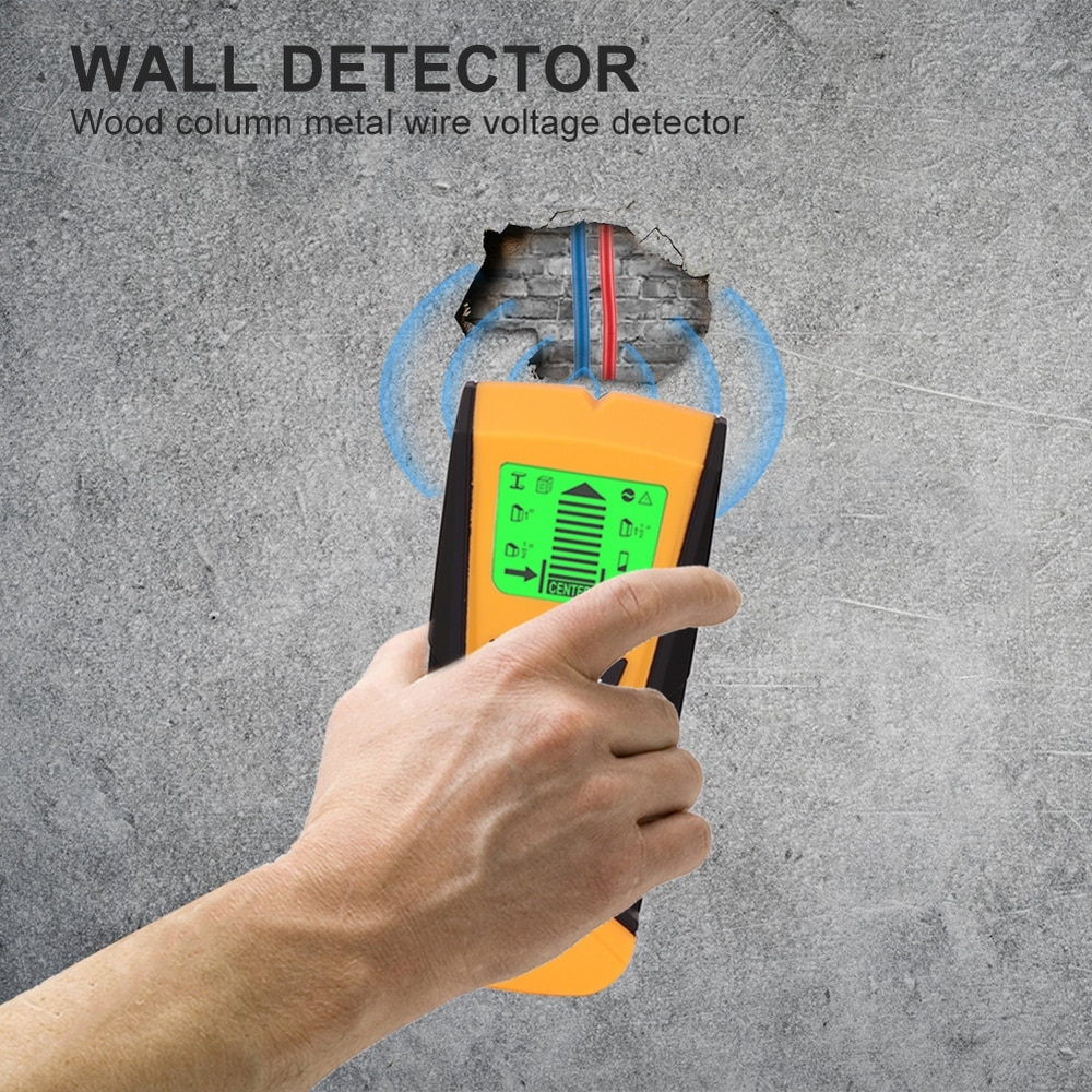 3 In 1 Metal Gold Finder Wood Studs Detector Electric Box Finder Wall Detectors AC Voltage Live Wire Detect Wall Scanner Tools