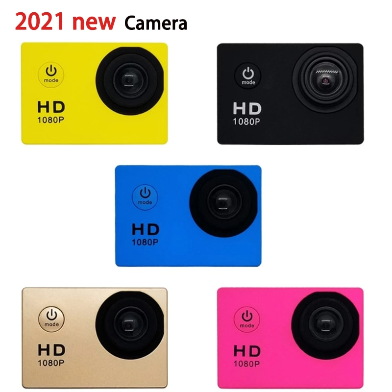 12MP كاميرا HD 1080P 32GB الرياضة في الهواء الطلق عمل كاميرا كاميرا مقاوم للماء صغيرة 2 بوصة كاميرا فيديو رقمي إلكترونيات 2021new