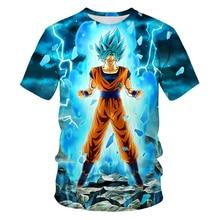 Sommer Dragon Ball Männer T-shirts 2019 Neue 3D Druck Super Saiyan Goku Schwarz Zamasu Vegeta Dragonball Beiläufige lose T-shirt