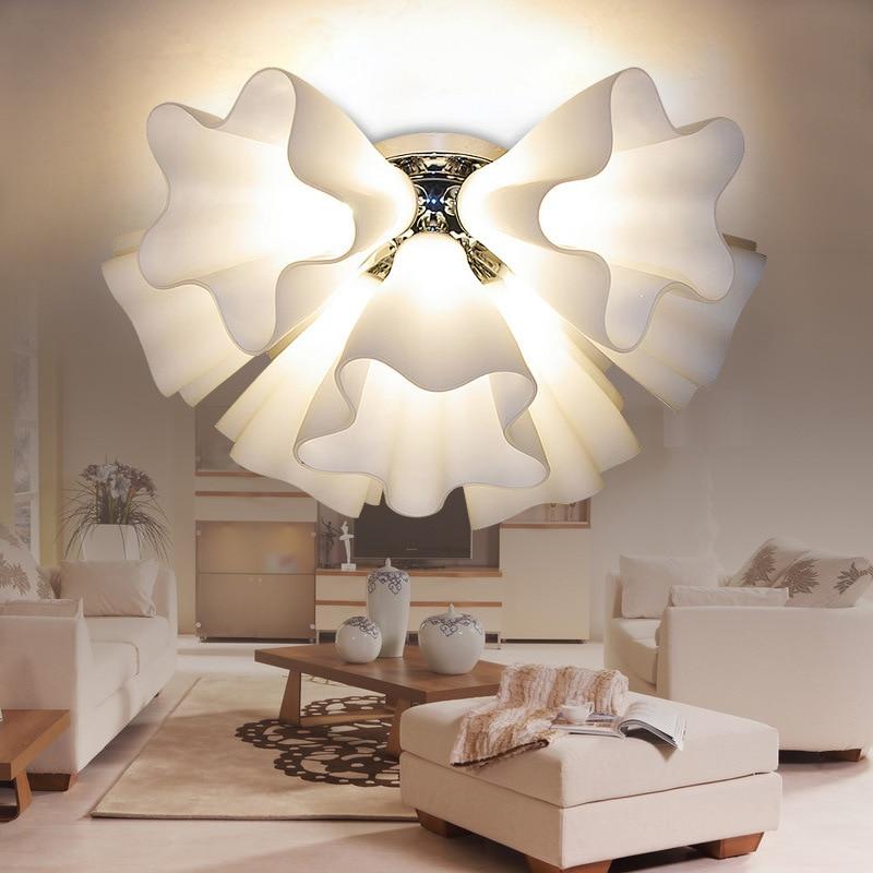 Nordic Flower Chandelier Lights Bedroom Ceiling Lamp Fashion Led Room Creative Lamps Art Living Room Lighting Room Decoration enlarge