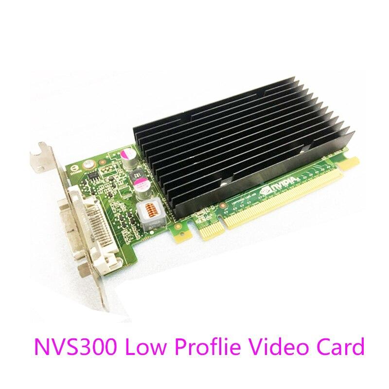 1PCS New LP low Profile Quadro NVIDIA NVS300 512M DDR3 PCIE NVS 300 Graphics Video Card with DMS59 Cable