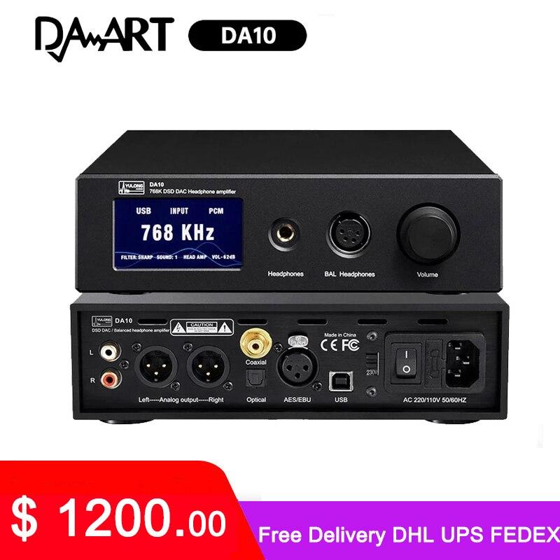 Amplificador de Fone de Ouvido Yulong Daart Dsd Dac Single-end Equilibrado Preamp Ultra Baixo Ruído Amplificador Máquina Edição Da10 Ak4497 768k