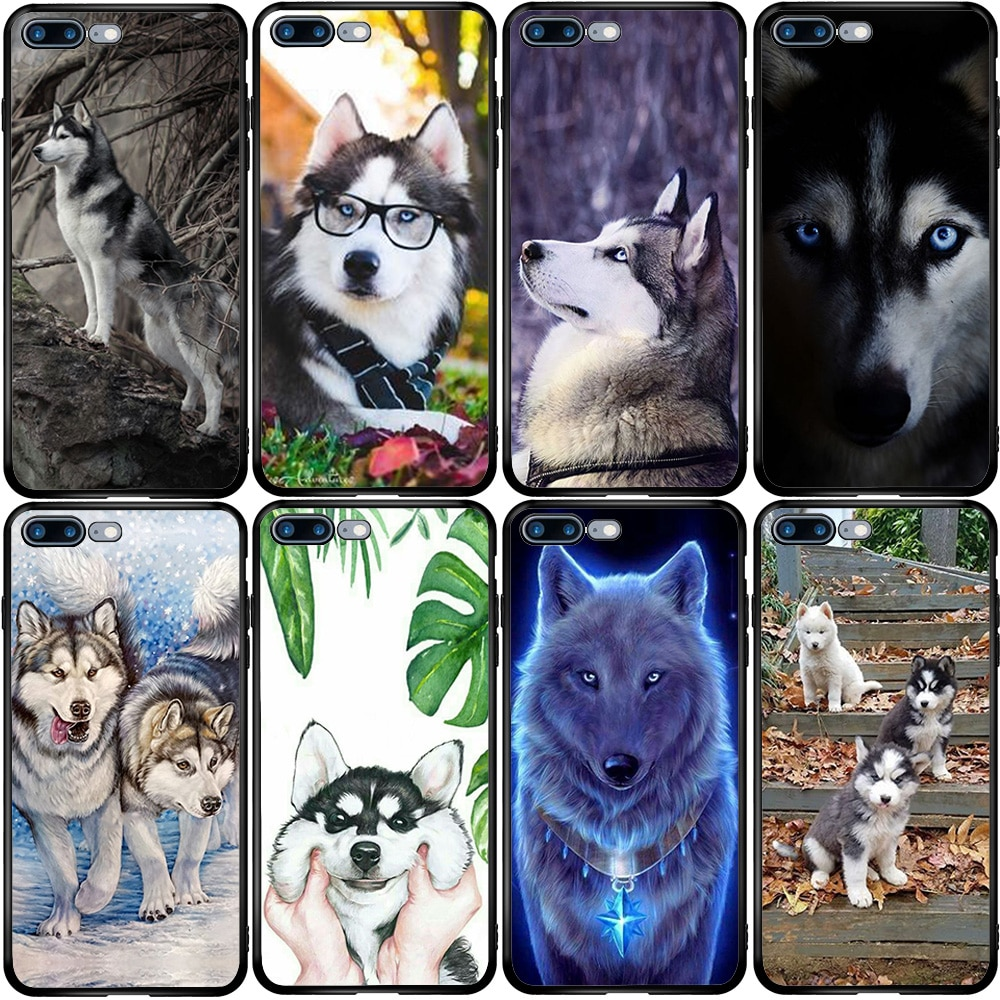 Caso de la cubierta para Huawei Honor Nova 4 5 5 5 6 6 7 SE Mate 9 10 20 30 P10 P20 P30 P40 Lite E Pro Plus de Alaska Malamute perro Husky Siberiano