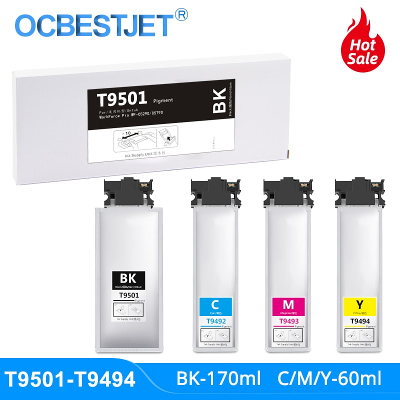T9501 T9492 T9493 T9494 cartucho de tinta con tinta de pigmento para Epson Pro WF-C5790DWF WF-C5710DWF WF-C5290DW WF-C5210DW