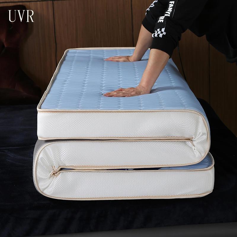 UVR الصيف السرير الجليد الحرير حصيرة مرتبة فراش من اللاتكس كامل الحجم وسادة مريحة سوبر مجموعة فراش السرير الناعمة رغوة الذاكرة ملء تاتامي