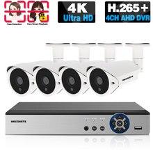 Système de caméra de Surveillance à 4 canaux système de caméra de sécurité à domicile CCTV DVR 4K 4CH IR Kit de Surveillance vidéo de Vision nocturne 8MP