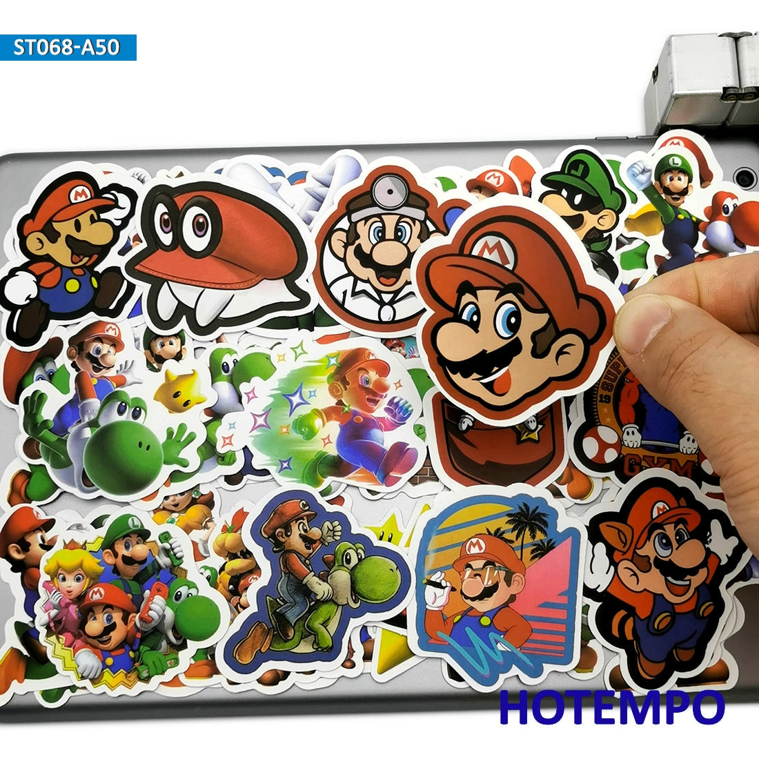 50 Uds dibujos animados Super héroe Mario Luigi calcomanías de Juegos Juguetes para teléfono móvil Laptop equipaje maleta Skateboard Anime pegatina