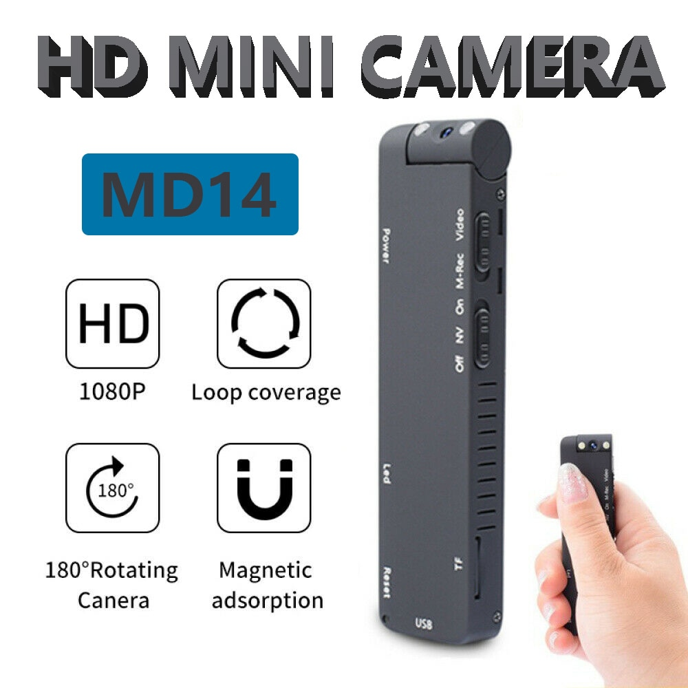 HD Mini Camera 1080P Digital Magnetic Loop Recording Camcorder Instant Motion Detection Video Record