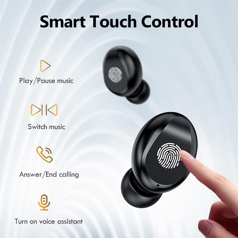 TWS F9 Wireless Bluetooth Headphone Stereo Sport Wireless Earphones Touch Bluetooth 5.0 Mini Earbud Bass Headset with 2000mAh enlarge