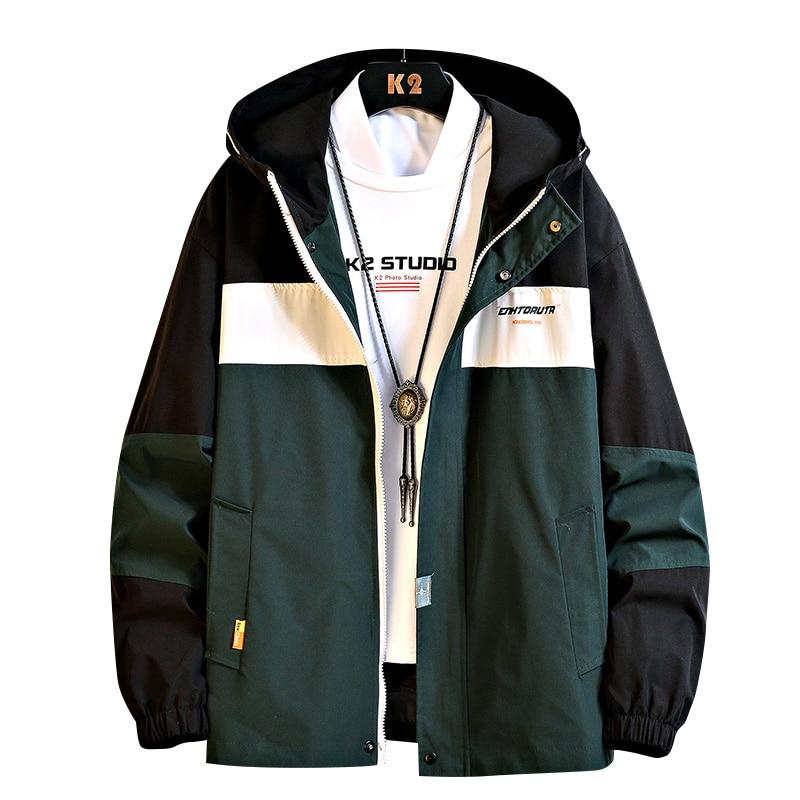 Hip Hop Jacket Coat Mens Hooded Windbreaker Jacket Autumn New Casual Harajuku Loose  Jacket Coats Streetwear Man Outwear,ZA343