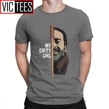 Hommes t-shirts regardez ma sale fille la marche morte T-Shirt nouveauté T-Shirt col rond vêtements coton purifié