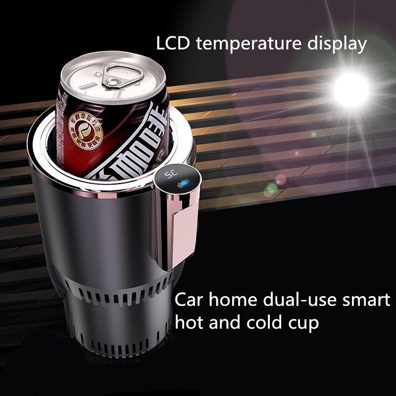 Taza caliente y fría para coche, dispositivo De calefacción Caneca inteligente De...