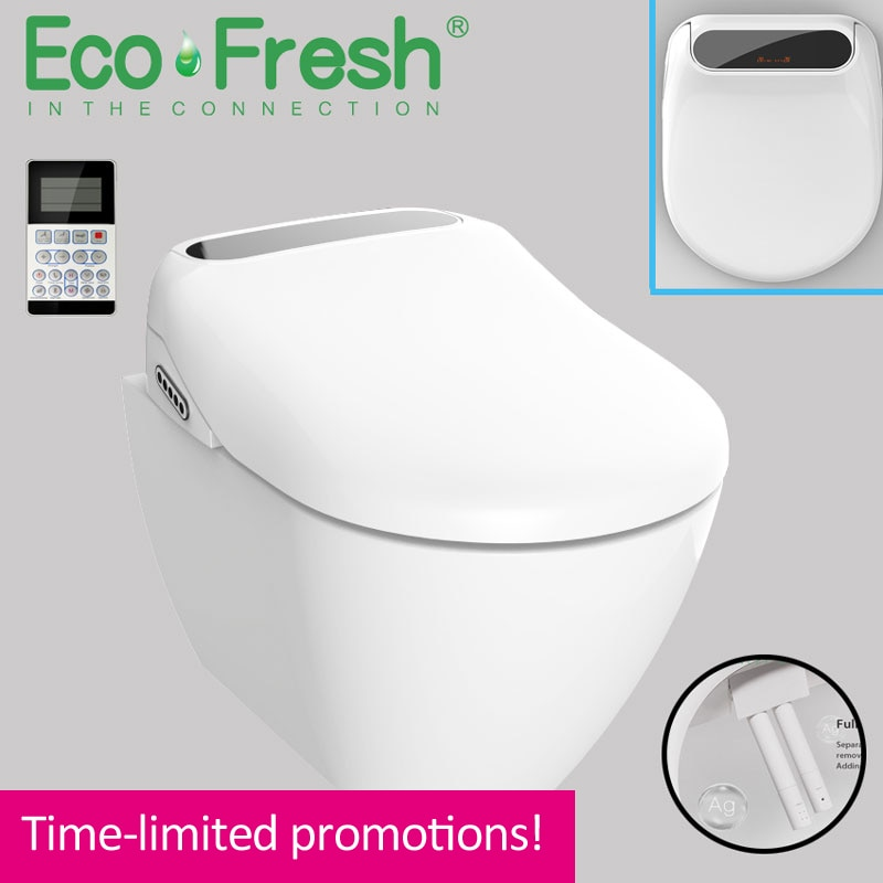 Ecofresh LED wc светильник ed Smart удлиненный U сиденье для унитаза электрический биде с подогревом светодиодный светильник для мытья сухой массаж д...