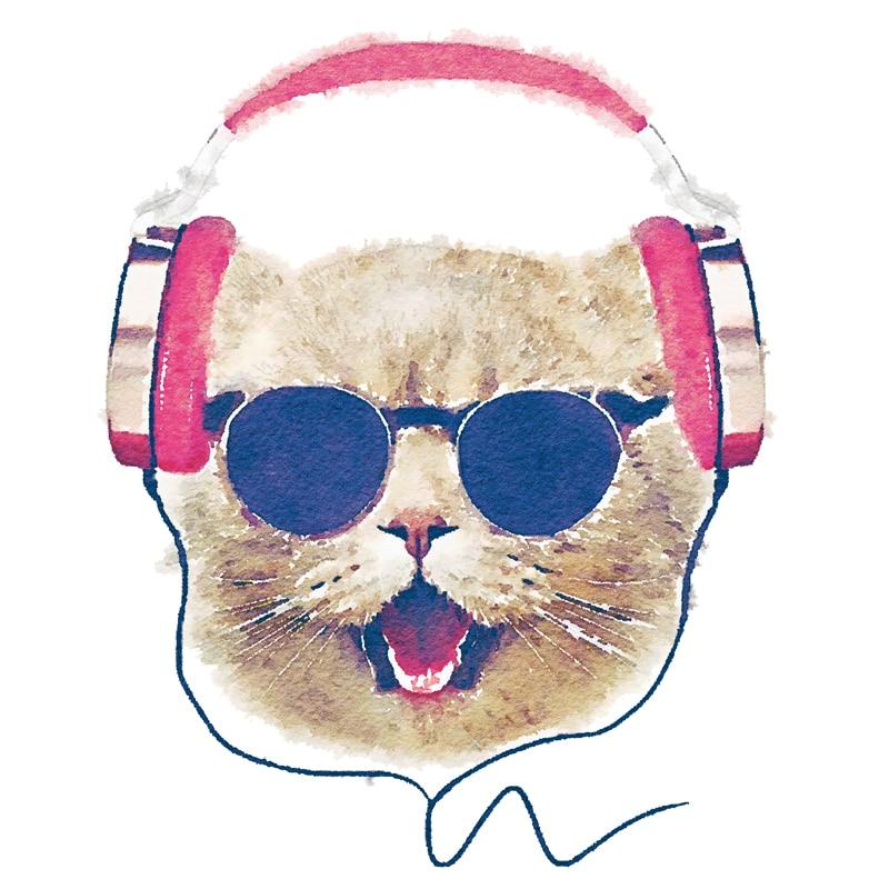 Parches adhesivos divertidos para gatos con auriculares Diy, Parches decorativos para ropa para niños, Parches lavables no tóxicos