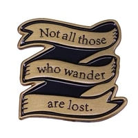 new badge brooches pin cute ribond design lapel pins not all those who wander are lost badges pin backbag accessory for friends