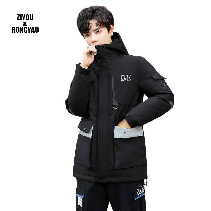 New Jacke2020 Men Fashion Hip Hop Windbreaker Coats Casual Loose Hooded Mens Patchwork Mens Jackets  Coats Outwear Streetwear