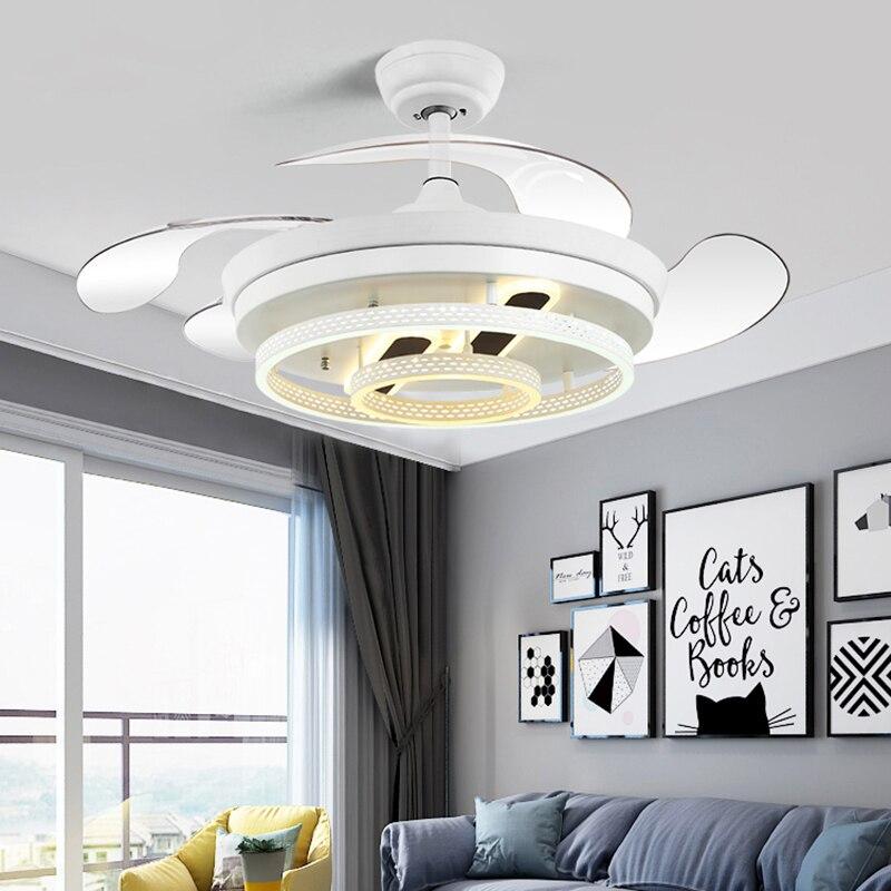 Скандинавский Декор для спальни салона светодиодный потолочный вентилятор