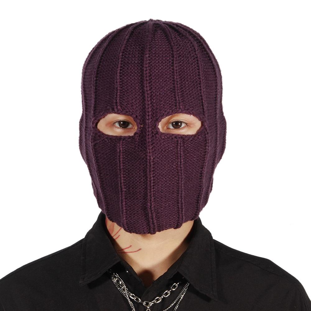 Helmut Zemo Cosplay Mask Baron Headgear Knit Type Soft Warm Props