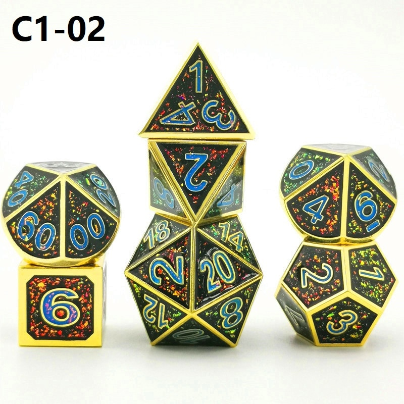 Polyhedral metal Dice Game RPG, DND, D6, D10, D20, luxury dice game, new 2020