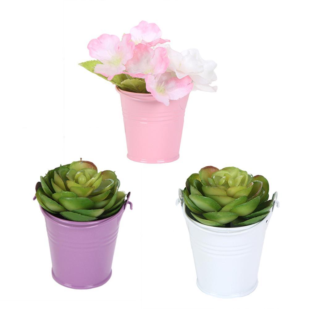 Nette Mini Einfarbig Eimer Eimer Hochzeit Party Candy Gastgeschenke Home Hotel Decor Outdoor Garten Bewässerung Blume Container Gadget