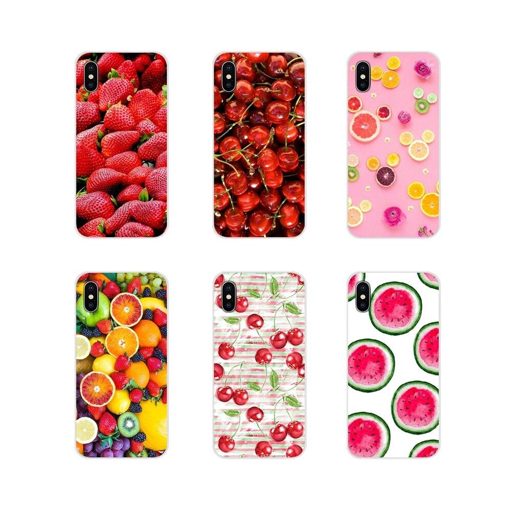 Casos de telefone móvel para huawei g7 g8 p8 p9 p10 p20 p30 lite mini pro p smart plus 2017 2018 2019 verde cereja fruta de alimentos cherr