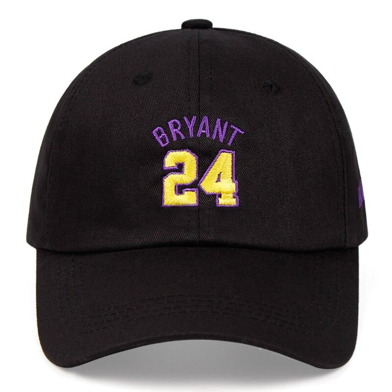 Kobe Bryant 100% Baumwolle Papa Hut Schwarz Mamba 24 Bestickte Baseball Kappe Snapback Basketball Outdoor Sport Kappe Hip Hop Trend hut