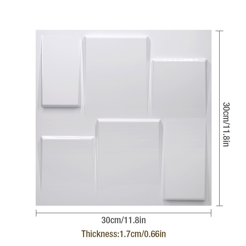 30x30cm 3D tile panel mold plaster wall 3D wall stickers living room 3D wallpaper mural bathroom kitchen accessories outdoor