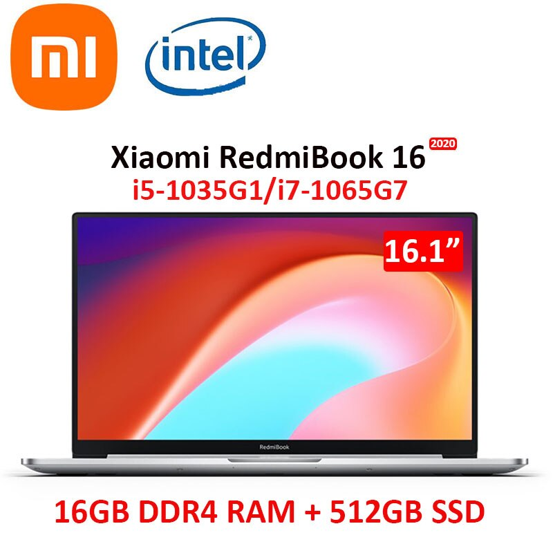 Promo RedmiBook 16 new 2020 Xiaomi Laptop 16 Inch FHD Screen mi Notebook