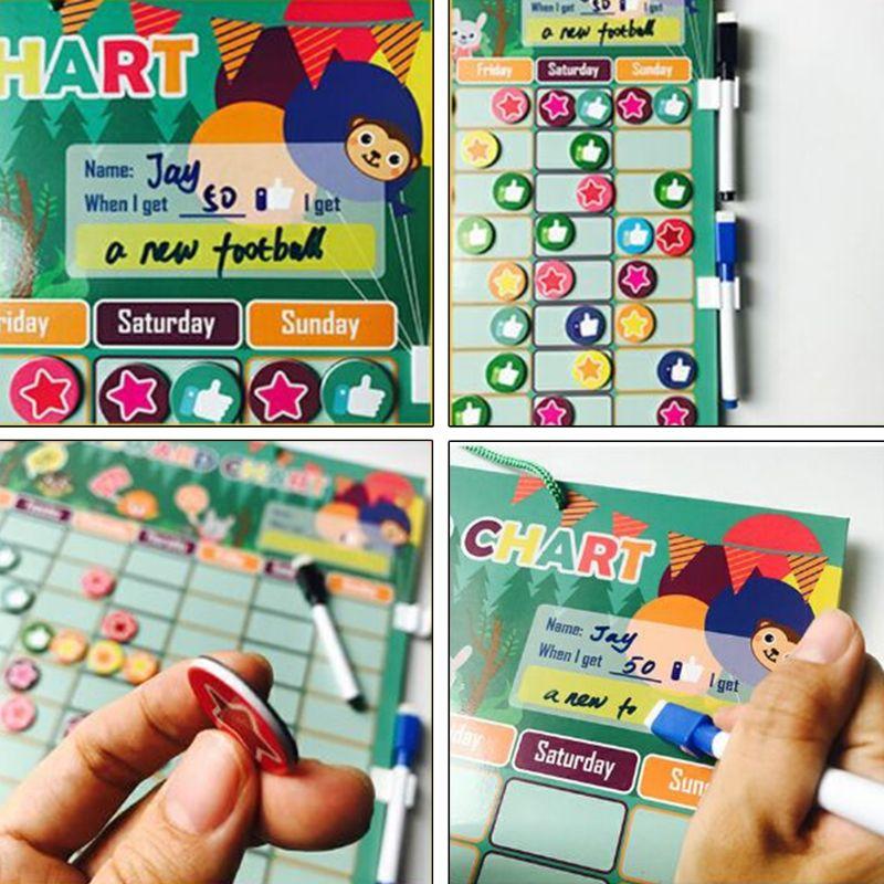 Recompensa magnética comportamento tarefas carta placa educacional tabela calendário crianças brinquedo 425f