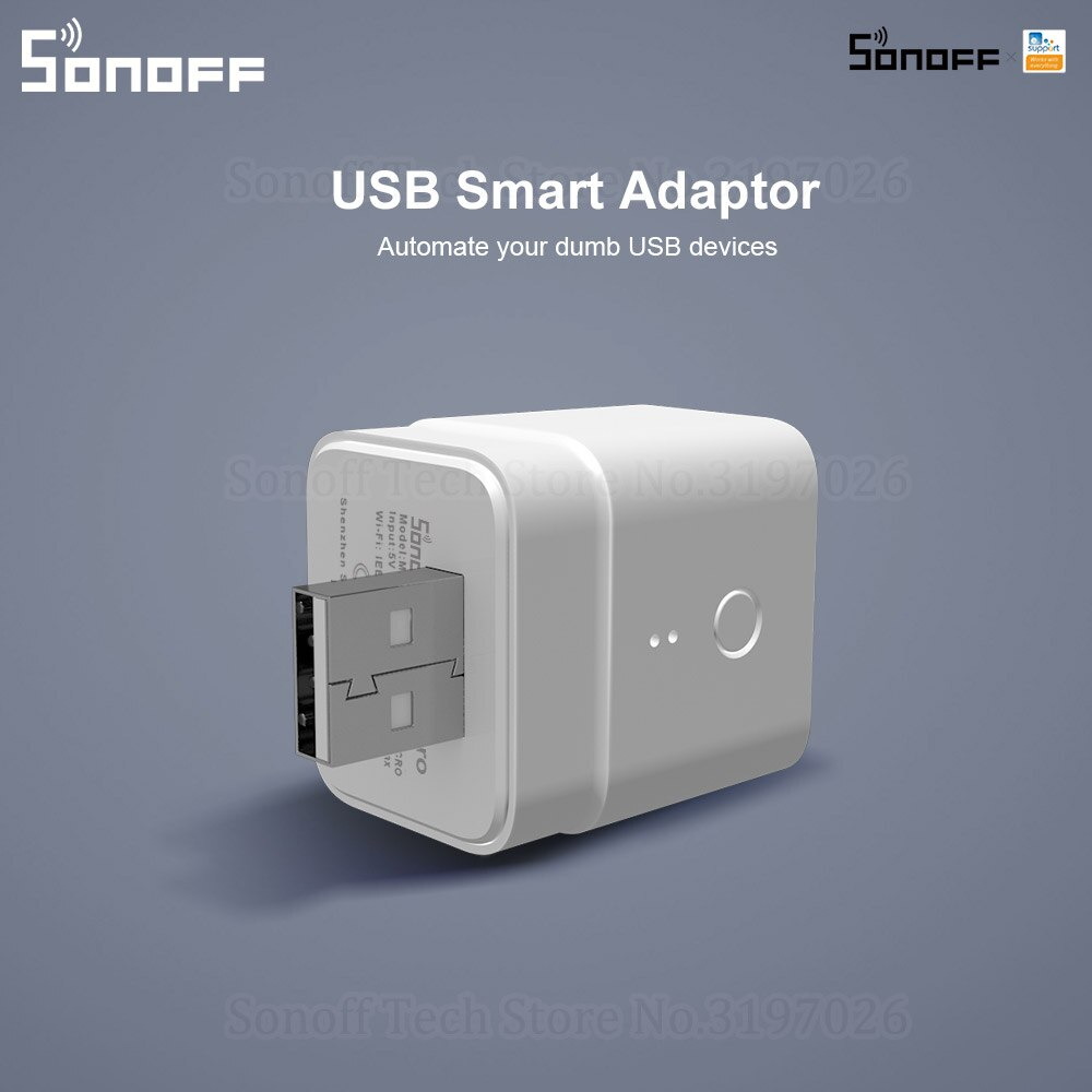Itead Sonoff Micro 5V Wireless USB Smart adapter flessibile e portatile rende i dispositivi USB intelligenti tramite lapp eWeLink Google Home Alexa