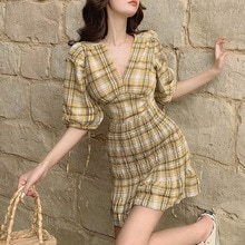 2021 Summer New Product Cage Sleeve Short Skirt With Waist And Small, Lightly Matured French  Temper