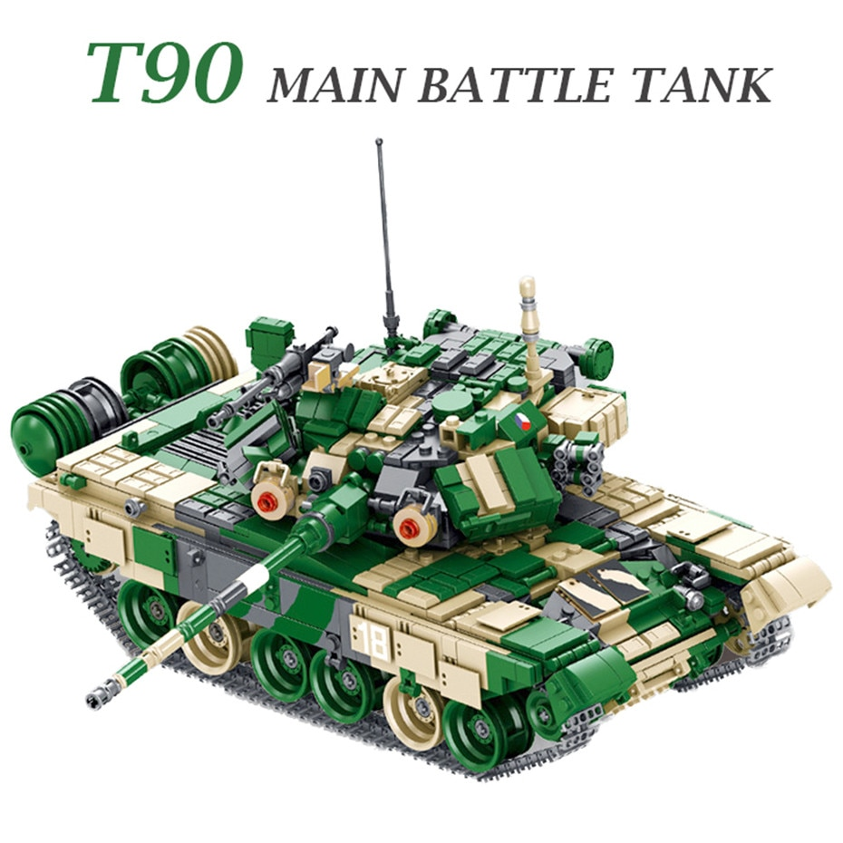 MEOA 632005 Military Vehicle Series 1773PCS T-90 Main Battle Tank Set Building Blocks Bricks Toys Boy Educatonal Toys Kids Gifts xingbao technic new military series 06033 the uk challenger2 main battle tank model blocks bricks toys figure christmas gifts