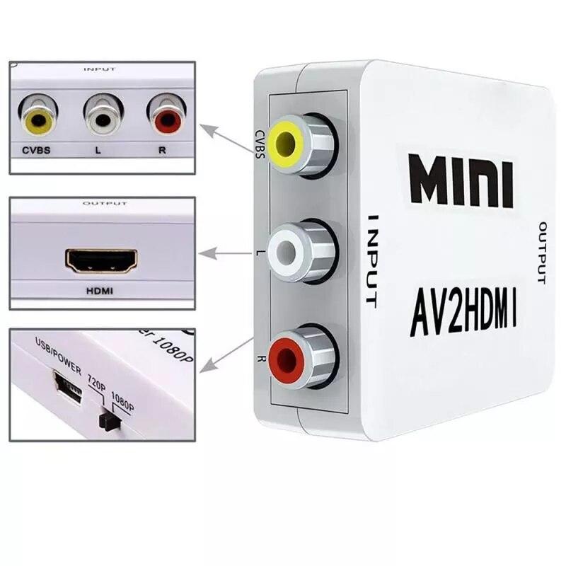 Adaptador de TV Para PS3, PS4, DVD, Xbox p, HD, 1080P, AV,...