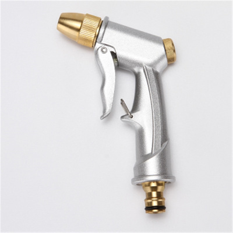 Household multifunctional high-pressure car wash water gun head copper aluminum alloy frosted electroplating water gun head