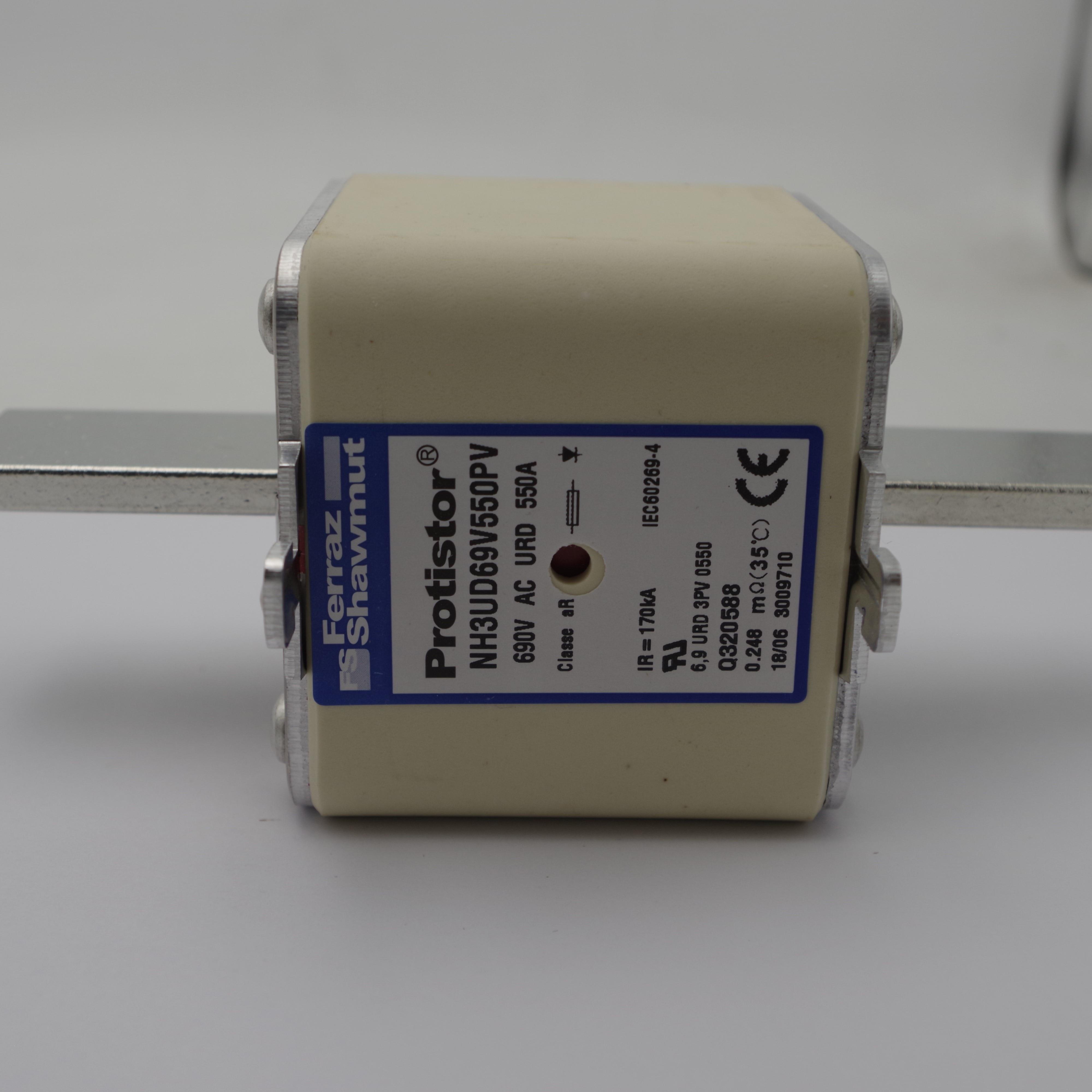 fusivel de ceramica de potencia nh3ud69v550pv 550a 690v relacao do fusivel hrc para