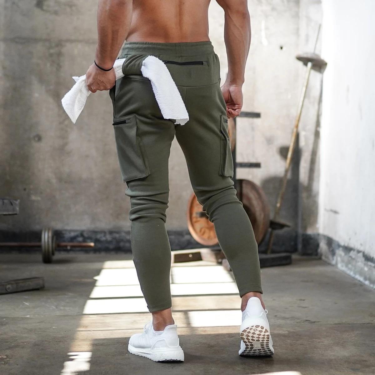 Men Camo Fitness Sport Pants Male Sweatpants Men Joggers Running Workout Training Pants Male Gym Cargo Pants Sportwear Trousers
