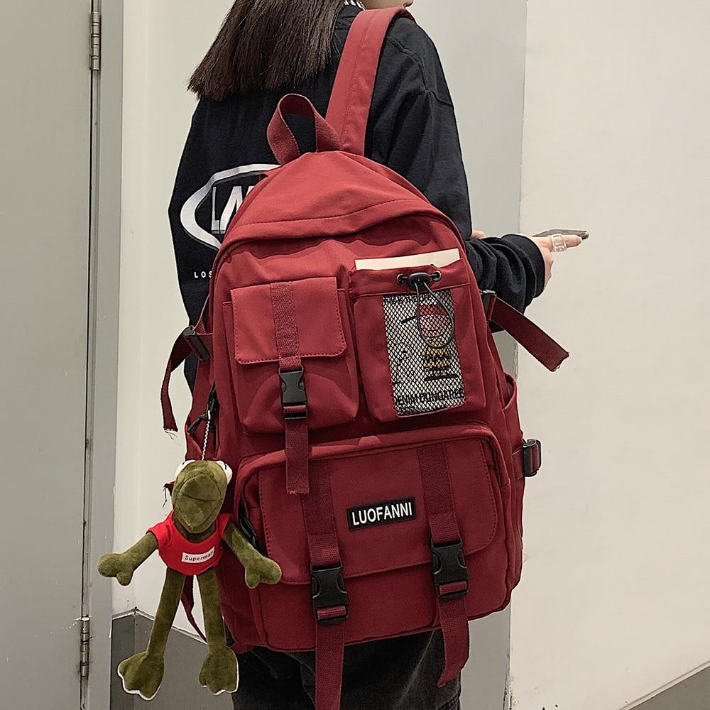 Women Boy Nylon Backpack Travel Mesh Female Student College School Bag Men Girl Cool Laptop Backpack