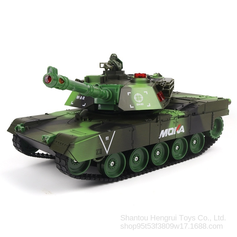 New Remote Control Toy Large Battle Tank Model Car Rechargeable Launching Cannonball Off-road Tracked Remote Control Toy Car enlarge