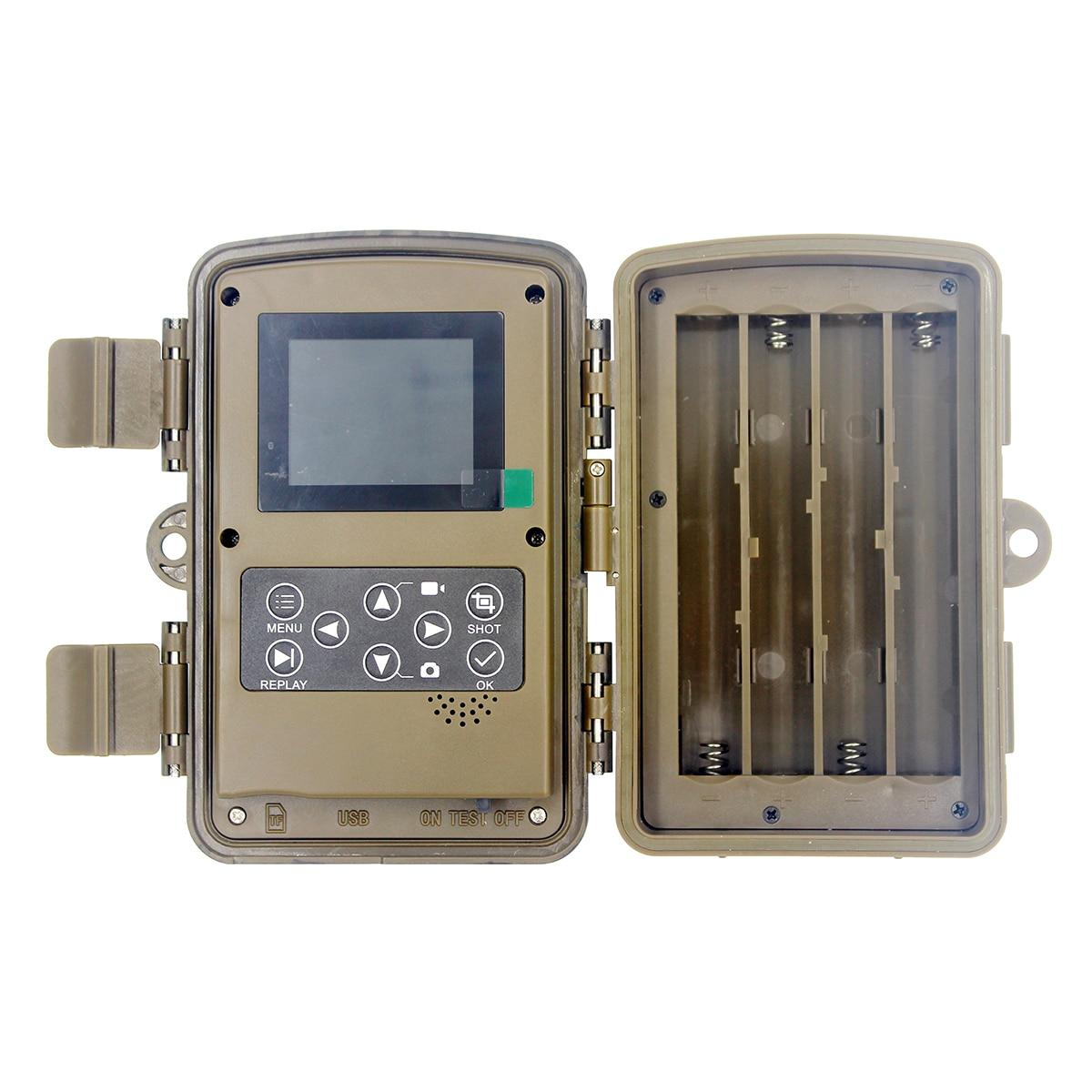 LED كاميرا صيد ليلية الحياة البرية 20MP 1080P الرؤية الليلية في الهواء الطلق الصيد Vamera Trail 1080P HD الحياة البرية الحيوان كاميرا فيديو