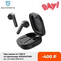 Беспроводные наушники SOUNDPEATS TrueAir2, Bluetooth V5.2, гарнитура QCC3040 aptX 4 Mic CVC, TWS + беспроводные наушники с шумоподавлением