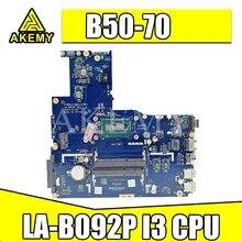 Новый ZIWB2/ZIWB3/ZIWE1 LA-B092P для Lenovo B50-70 Материнская плата ноутбука FRU:5B20G45170 SR1EN I3-4030U DDR3L 100% тестирование