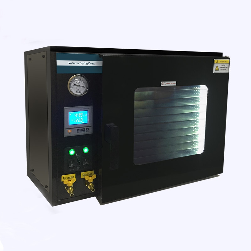 DZF-6050 Stainless Steel Digital Display 10-Shelves 110V /220V 1.9 Cu Ft Lab Digital 55L Electrical Vacuum Drying Oven