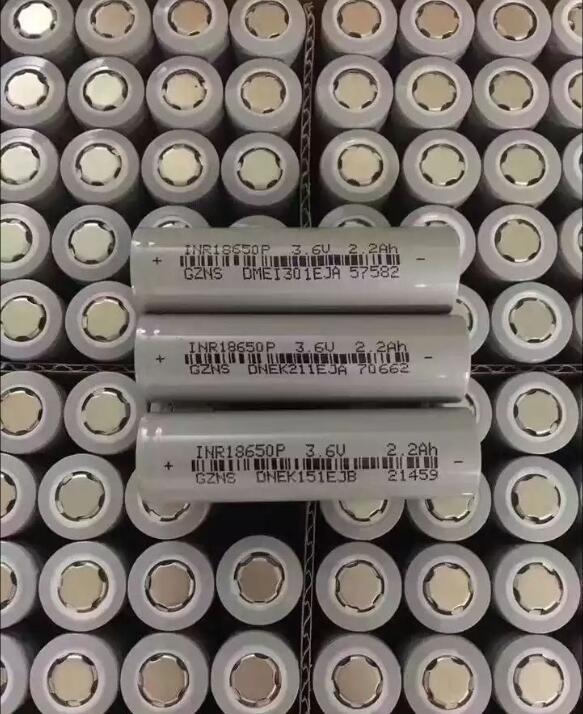 10 pces 18650 bateria de lítio de potência 2200mah 3.7v descarga 5c inr18650p