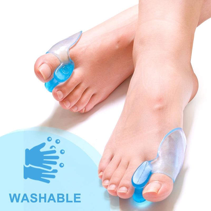 1Pair Toes Separator Orthotics Feet Bone Thumb Adjuster Correction Hallux Valgus Bunion Corrector Pe