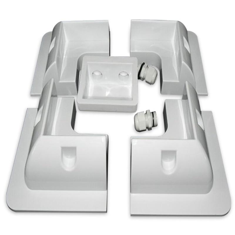 5 unids/set marco módulo Solar Esquina de montaje ABS Kit de soporte de autocaravana caravana RV barco Solar Panel blanco