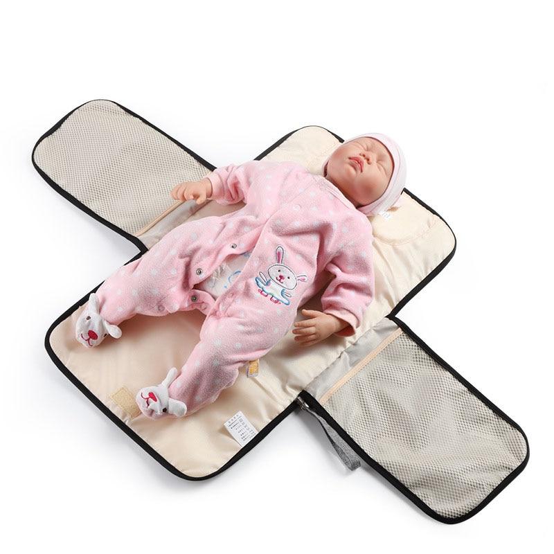New 3 in 1 Waterproof Changing Pad Diaper Travel Multifunction Portable Baby Diaper Cover Mat Clean Hand Folding Diaper Bag