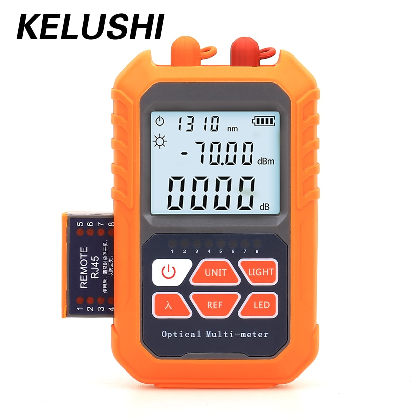 Mini Charging Fiber Optic Cable Tester 5mW/15mW Optical Power Meter Visual Fault Locator All-in-One Machine -50~20dBm/-70~3dBm