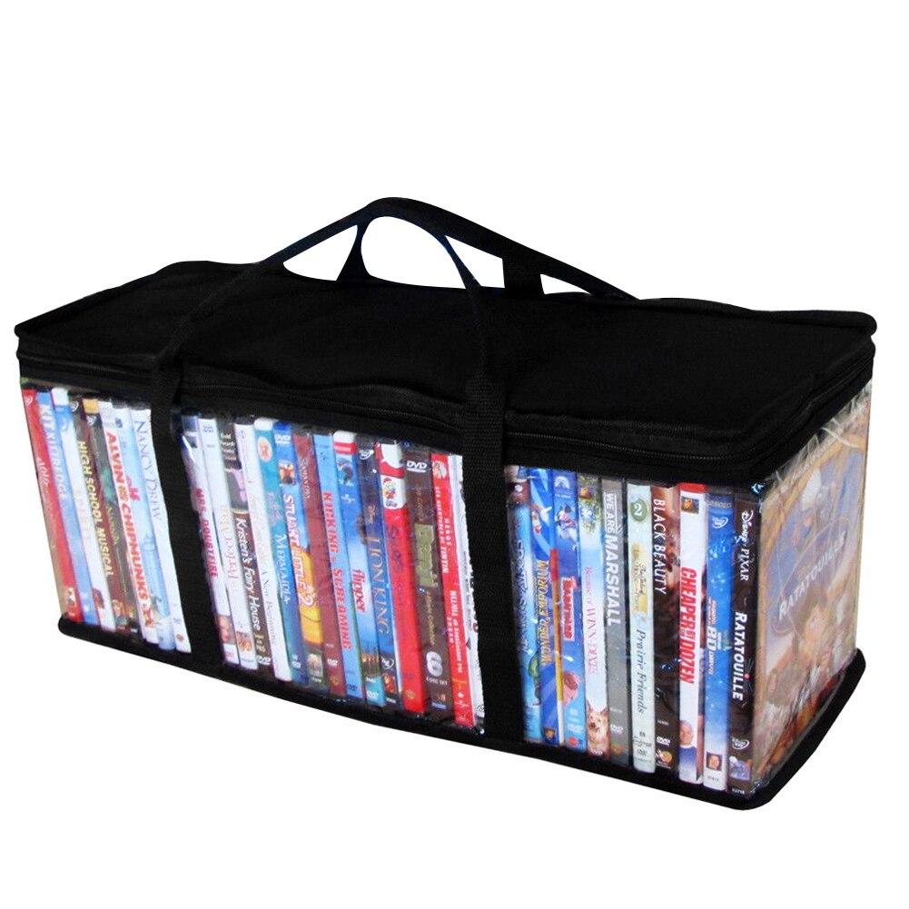 Молния для переноски Защитная ткань Оксфорд CD держатель DVD видео большой прозрачный Органайзер Пылезащитная Портативная сумка для хранени...