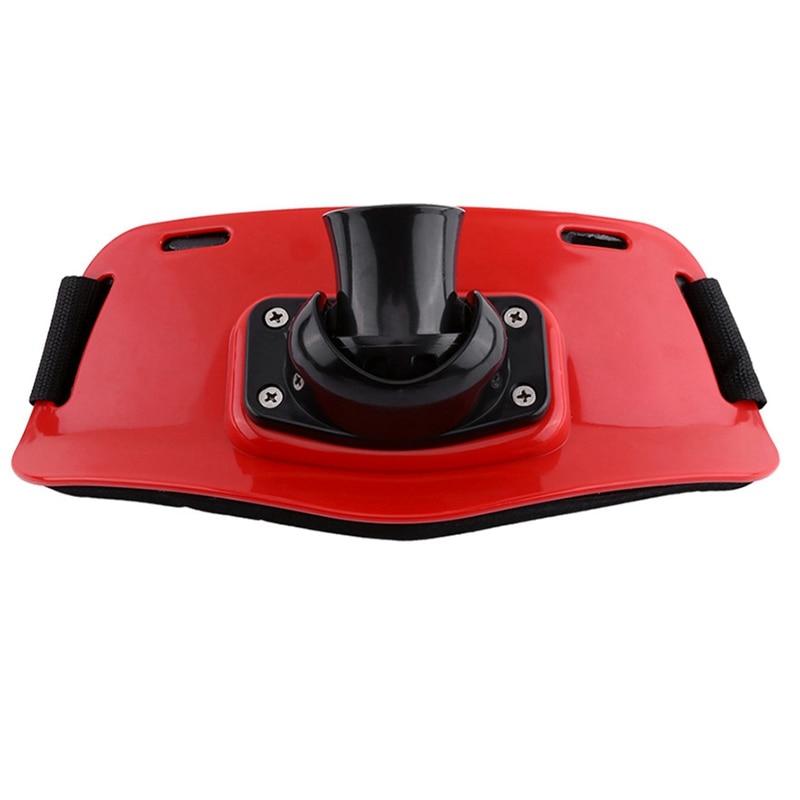 Qualidade ajustável stand up gimble belt barco jogo vara de pesca titular acessórios pesca equipamento de pesca (vermelho)