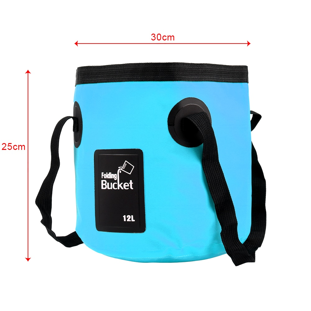 Folding Bucket Portable Outdoor Travel Foldable Water Bucket Bowl Sink Washing Bag 12L Car Wash Bucket enlarge